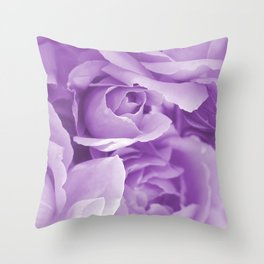 Violet Rose Bouquet For You - Valentine's Day #decor #society6 #homedecor Throw Pillow