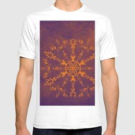 Fire wheel kaleidoscope T-shirt