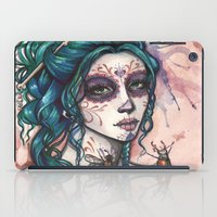 day of the dead iPad Cases featuring Day of the Dead by Mortimer Sparrow