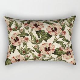 Retro Pink Floral I Rectangular Pillow