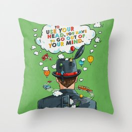 Use Your Head Throw Pillow