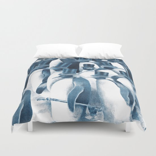 A Gathering of Gentlemen (square format) Duvet Cover