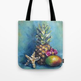 Tropical Dreams: Pineapple Painting Tote Bag