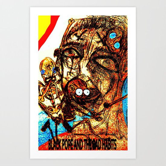 Black Pope Art Print