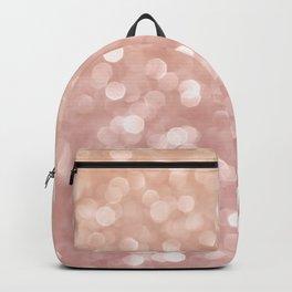 Rosegold Glitter Bokeh Glam Pattern Backpack