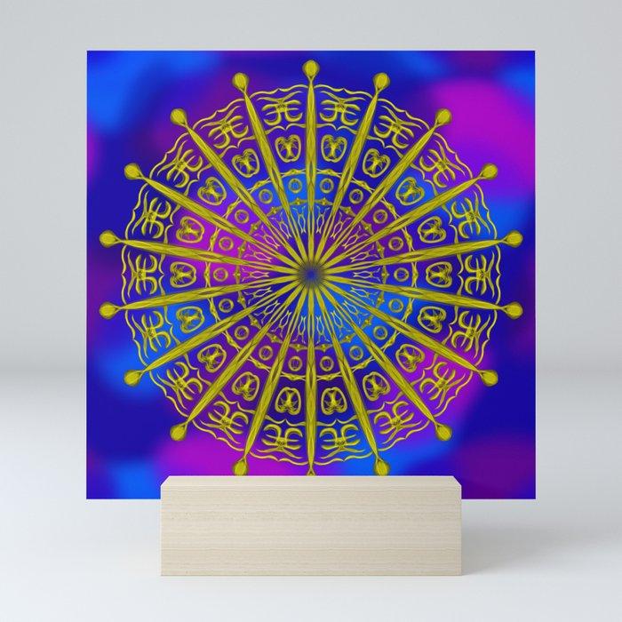Golden Sky Symbols Mini Art Print