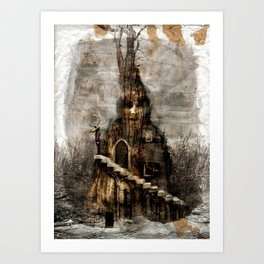 Stairs in the wood Art Print