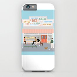 Queen Sally's Diamond Deli, Lyall Bay, Wellington, NZ iPhone Case