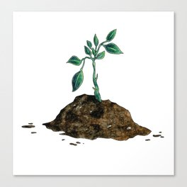 Through the Dirt of Life, We Thrive Canvas Print