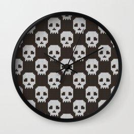 Knitted skull pattern Wall Clock