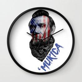 Abraham Lincoln Murica Wall Clock