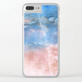 Corn flower blue vague watercolor Clear iPhone Case