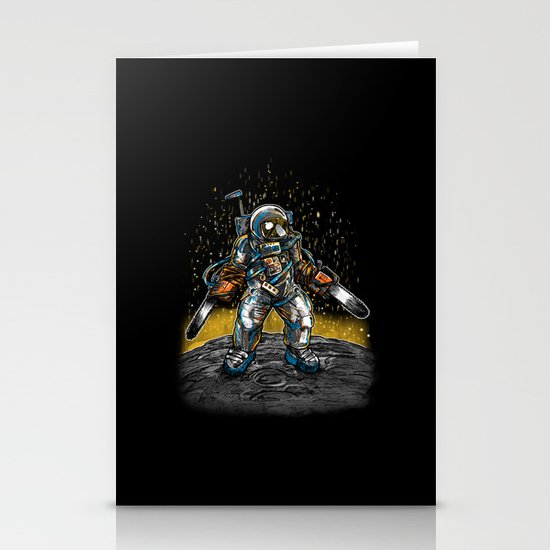 Texas Chainsaw Astronaut Stationery Cards