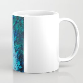 THE DIVIDE - Stunning Bold Colors, Ocean Waves Sun, Modern Beach Chic Theme Abstract Painting Coffee Mug