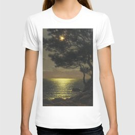 Classical Masterpiece 'Moonlit Coast' by Ivan Fedorovich Choultsé T-shirt