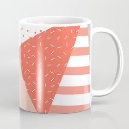 Just Peachy Stripes: Retro 80s Triangle Pattern And Neon Pop Art 1980s Style Coffee Mug