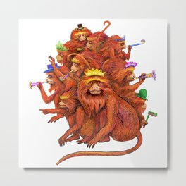 Year of the Red Fire Monkey!  Happy New Year! Metal Print