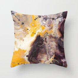 Color Commentary #16: Purple/Maroon & Golden Yellow [Herman de Waal] Throw Pillow