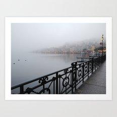 Lugano Waterfront Art Print