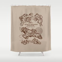 The Smuggler's Map Shower Curtain