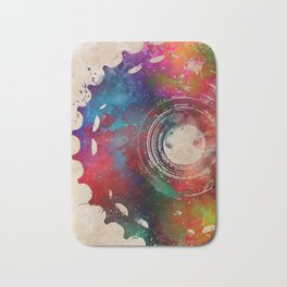 Cycling Bike sport art #cycling #sport Bath Mat