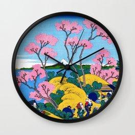 Mt,FUJI36view-Tokaido shinagawa goten mounten fuji view - Katsushika Hokusai Wall Clock