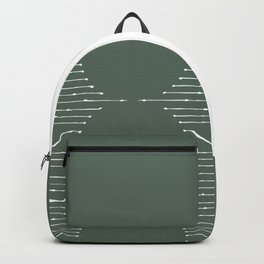 Geometric Lines / Sage Green Backpack