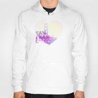 san francisco Hoodies featuring San Francisco by John W. Hanawalt