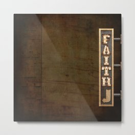 FAITH BILLBOARD Metal Print