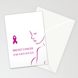 Empowering women to fight breast cancer - Breast cancer awareness Stationery Cards