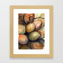 Tropical Palm Tree Coconuts Framed Art Print