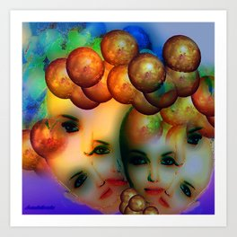 Thinking globally Art Print
