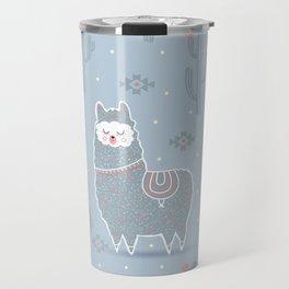 Alpaca winter Travel Mug
