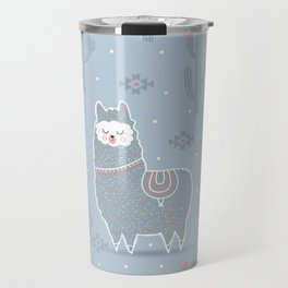 Alpaca winter Travel Mug