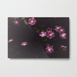 Pink Flowers Wilderness Metal Print