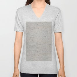 White Abstract Marble Pattern Unisex V-Neck