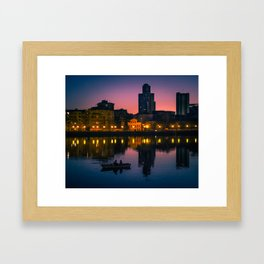 Night boating Framed Art Print
