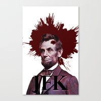 jfk Canvas Prints featuring JFK by ClimbTheBell