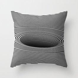 Black Hole Vertigo Throw Pillow