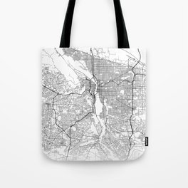 Minimal City Maps - Map Of Portland, Oregon, United States Tote Bag