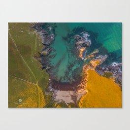 Aerial - South Devon - Coast Line - Soar Mill Cove Canvas Print