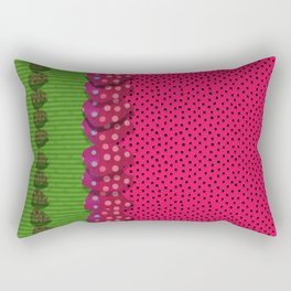 """""""Spring and summer strawberries paper"""" Rectangular Pillow"""