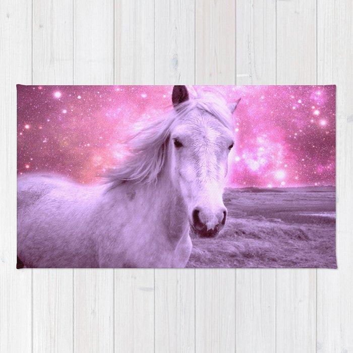 Pink Horse Celestial Dreams Rug By Lilkiddies
