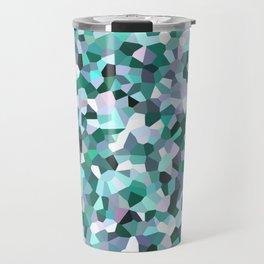Turquoise Mosaic Pattern Travel Mug