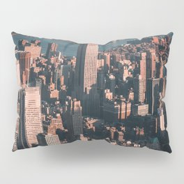 Empire State Building seen from a plane Pillow Sham