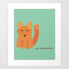 My woodland fox Art Print