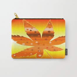 Trippy Leaf Sunny Orange Carry-All Pouch