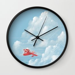 Porco Rosso flying Wall Clock