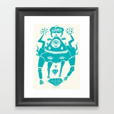 Triangle Head I Framed Art Print