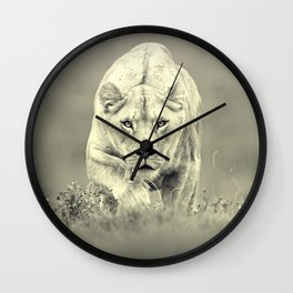 sly cat killer Wall Clock
